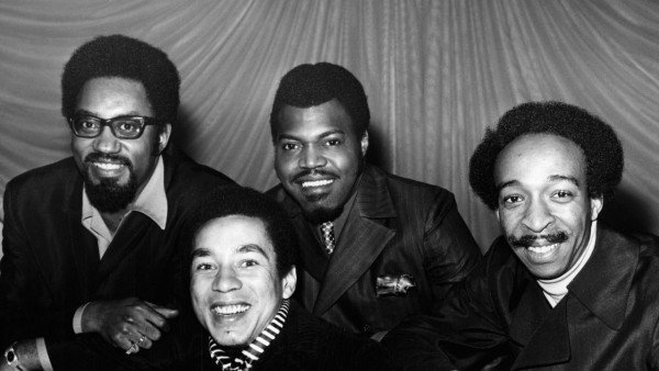 UNSPECIFIED - JANUARY 01:  Photo of Ronald WHITE and Smokey ROBINSON and Bobby ROGERS and MIRACLES and Pete MOORE; Posed group portrait with The Miracles L-R Bobby Rogers, Smokey Robinson, Pete Moore and Ronald White,  (Photo by Charlie Gillett Collection/Redferns)