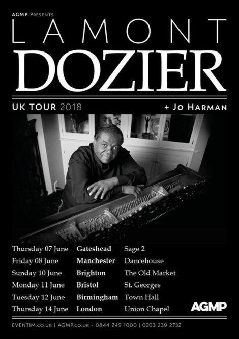 Lamont Dozier tour dates