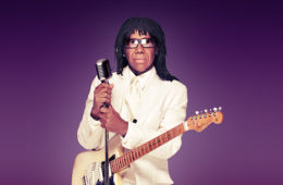 Photo of Nile Rodgers, leader of the band Chic.